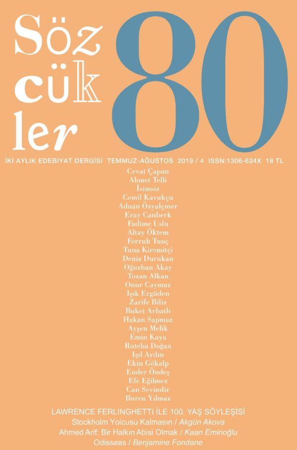 Sözcükler Dergisi 80. Sayı Kapağı