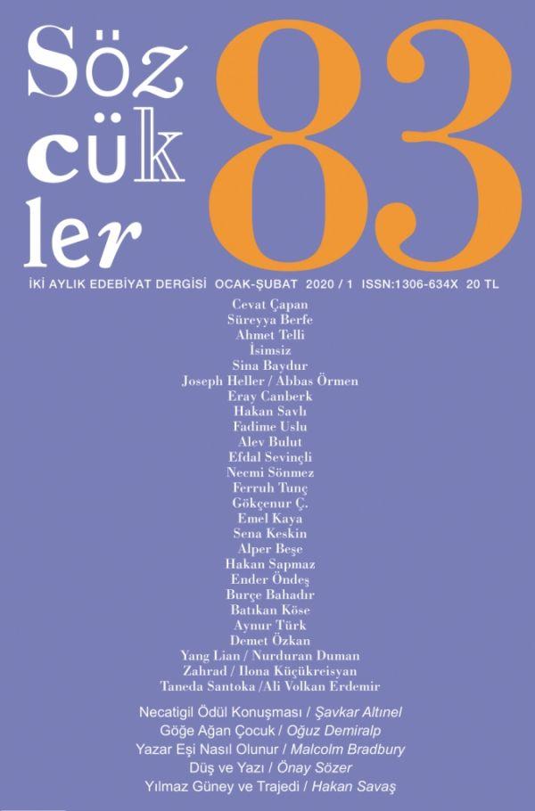 Sözcükler Dergisi 83. Sayı Kapağı