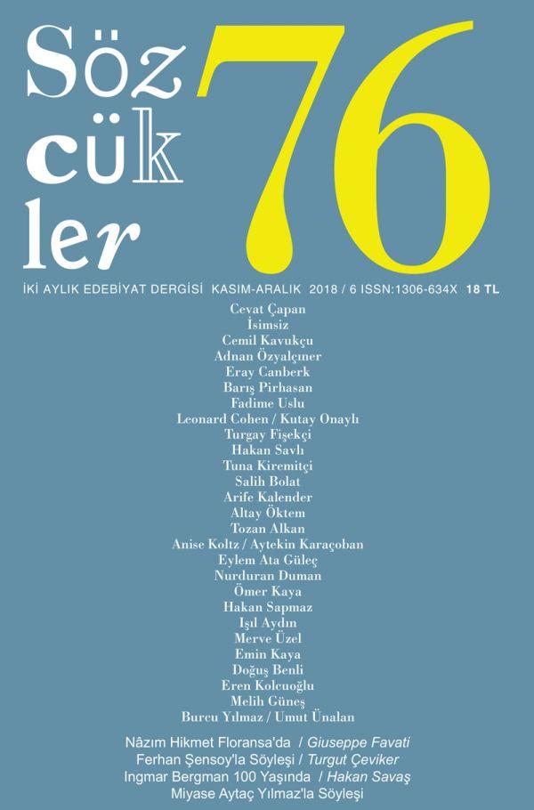 Sözcükler Dergisi 76. Sayı Kapağı
