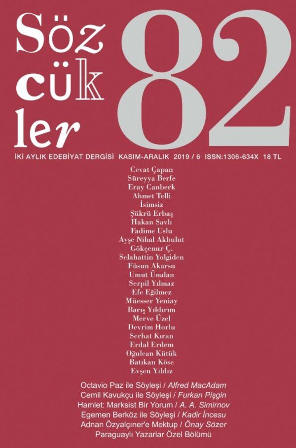 Sözcükler Dergisi 82. Sayı Kapağı