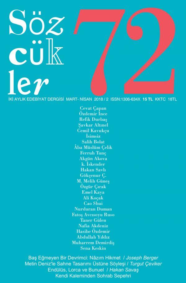 Sözcükler Dergisi 72. Sayı Kapağı